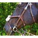 Bavette poney en cuir